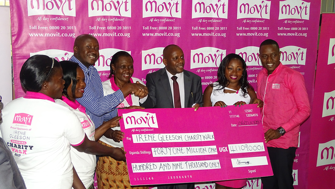 Movit made a contribution of 41million UGX to Irene Gleeson Foundation