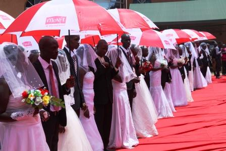 MOVIT  SPONSORS THE  MASS WEDDING AT CHRISTIAN LIFE CHURCH ON VALENTINES DAY