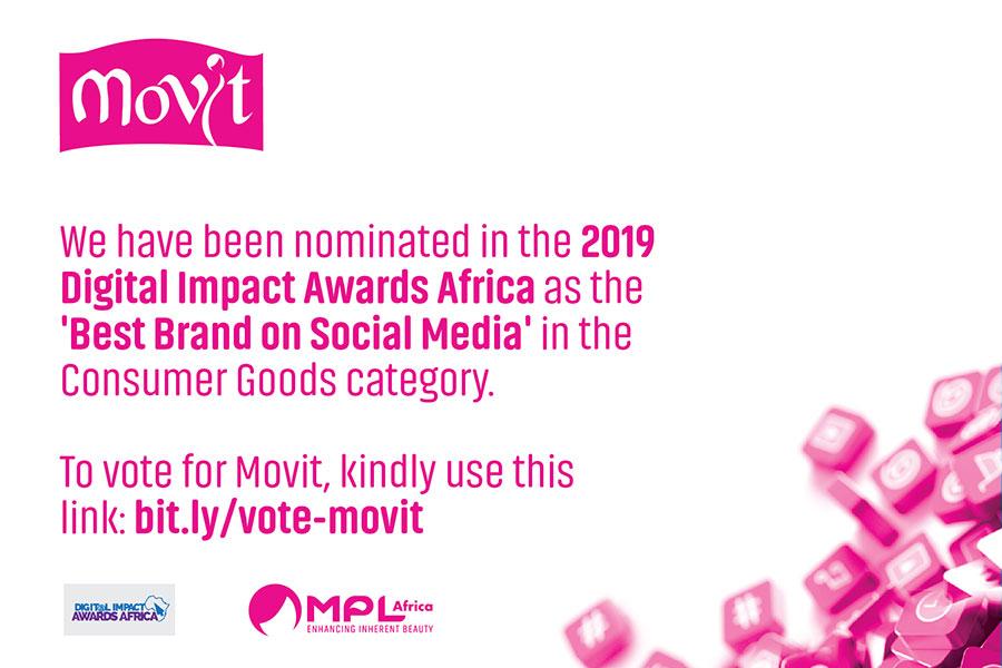 movit nominated for digital impact awards africa